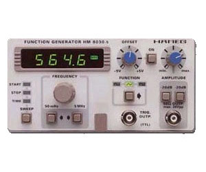HAMEG HM8030-3 WITH 8021-3 FUNCTION GENERATOR,  02HZ-2MHZ, DUAL, W/1 GHZ  FREQUENCY CTR