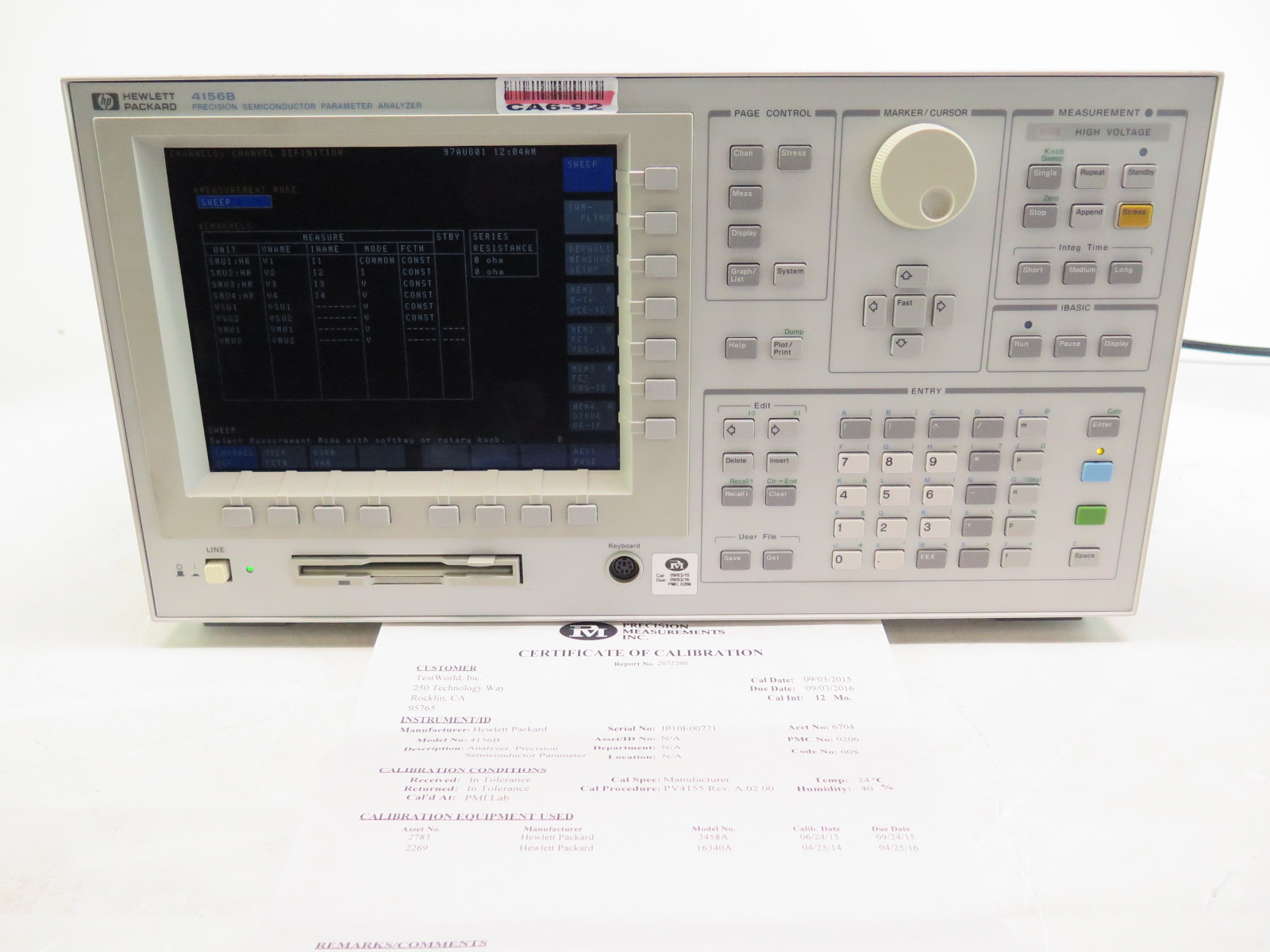 Agilent HP 4156B